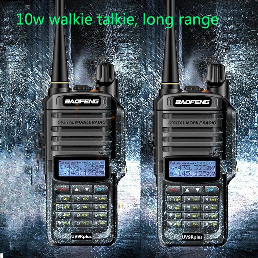 2pcs UV-9R Plus High Power 10W Upgrade Version Baofeng4500mAh Two Way Radio VHF UHF Portable Radio Walkie Talkie Uv 9R Plus
