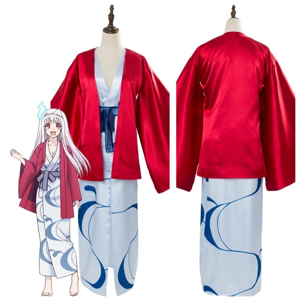 Manga Yuragi-sou no Yuuna-san Yunohana Yuuna Cosplay Costume Japanese Style Halloween Carnival Costumes
