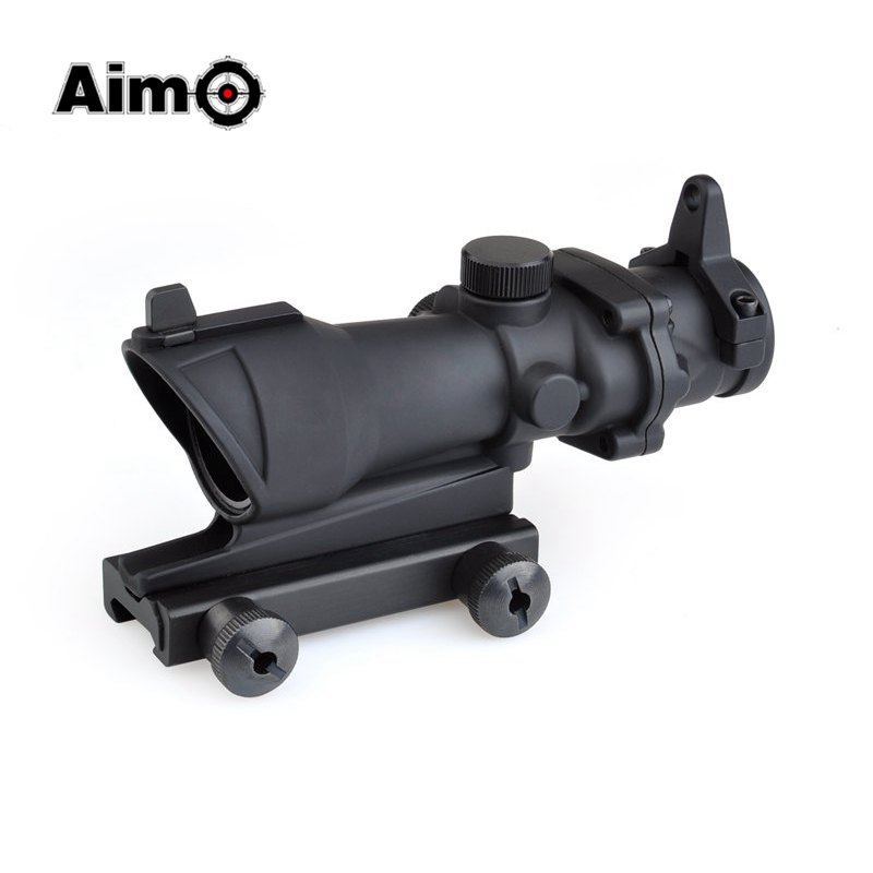 Aim-O Red Dot Iron Sight ACOG 4x32 Optical Rifle Scope Red / Green Reticle With Mount 1 set AO5310