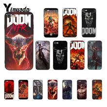 Yinuoda skull game Doom Nieuw Aangekomen Zwarte Telefoon Case voor iPhone 5 5Sx 6 7 7plus 8 8Plus X XS MAX XR 10 Case(China)