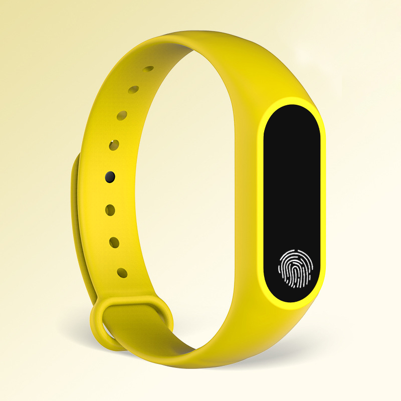 yellow finger print watch for men and women