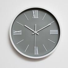 BAIQI 14″ brief Roman numerals mute quartz wall clock Bedroom wall clock Home decoration