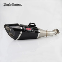 For GSXR600 GSXR750 2011 2017 Motorcycle Stainless Steel And Carbon Fiber Akrapovic Exhaust Pipe Inlet Inner