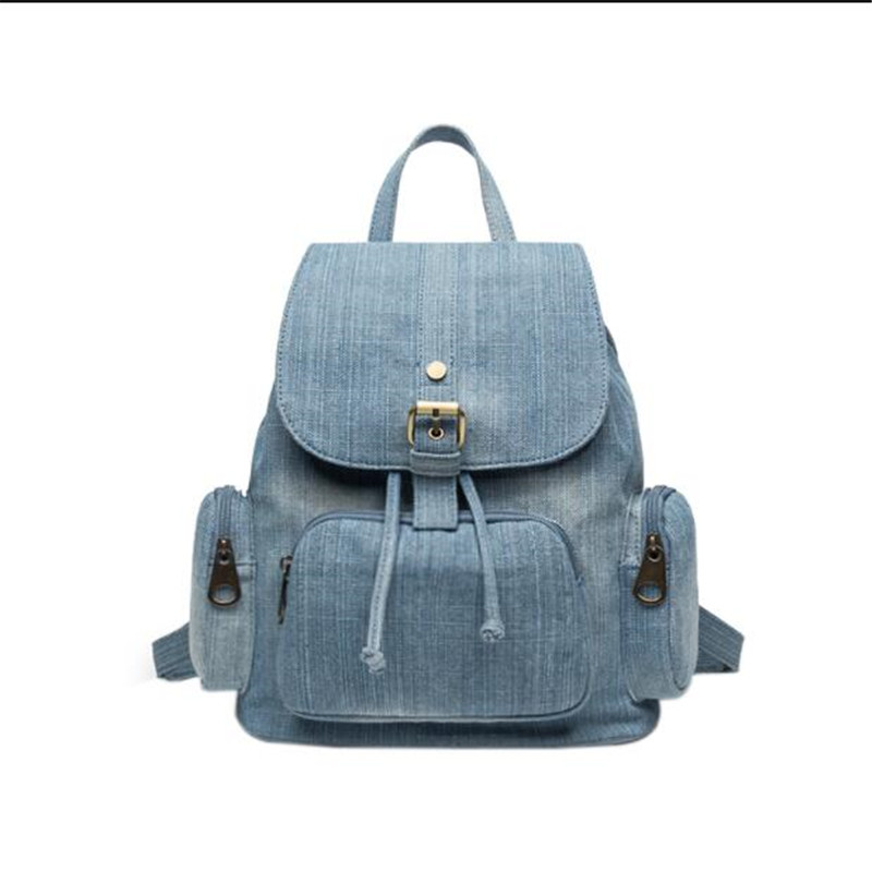 Meloke 2019 top quality handmade denim travel backpack casual school bags for girls vintage holiday bags drop shipping MN1261Meloke 2019 top quality handmade denim travel backpack casual school bags for girls vintage holiday bags drop shipping MN1261