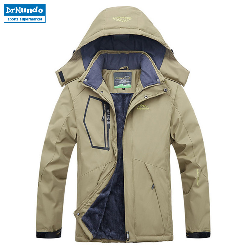 Ski Jacket Men Waterproof Fleece Snow Jacket Thermal Snowboard Coat Outdoor Men Winter Jackets Ski Wear Plus Size Brand