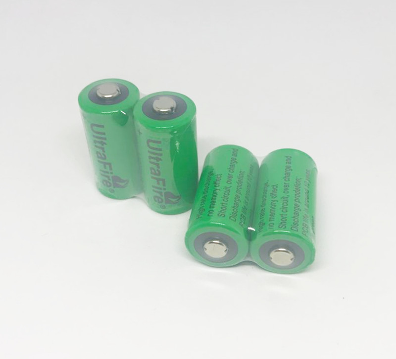 Cncool 4X 16340 1000mah 3v cr123a 16340 rechargeable battery 3.0v rcr123a 16340 batteries lithium