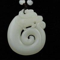 China Xinjiang Hetian Jade Made Dragon Ancient Jade Modeling Pendant Gift