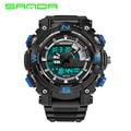 Luxury Brand Sanda Mens Sports Watches Men Analog Quartz Digital Electronics Watch Waterproof Shock Resistant Clock Male 743G