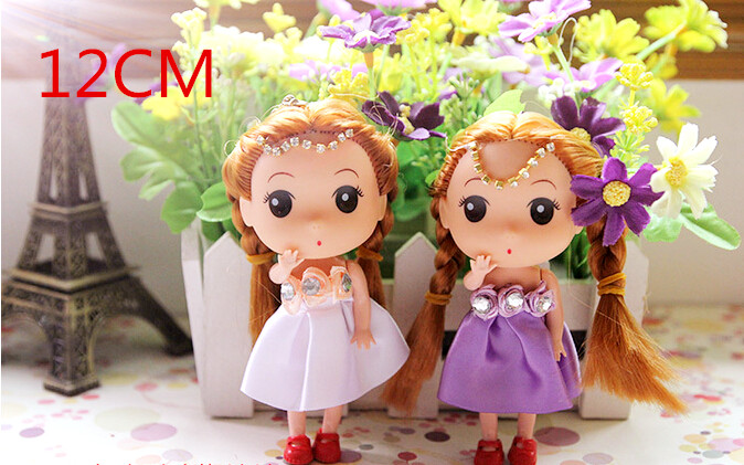 12cm 3pcs NEW Kids Toys Soft Interactive Baby Dolls Toy Mini Doll For Girls hot sale