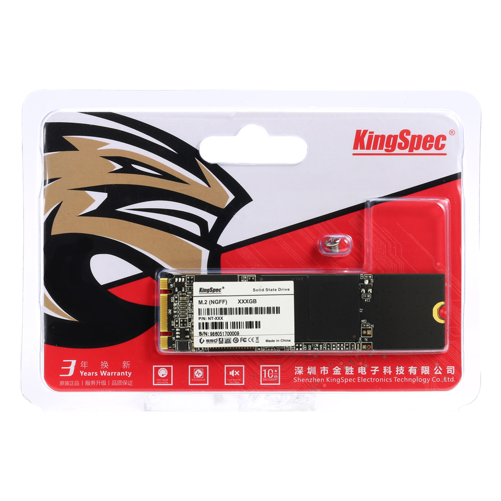 Kingspec M.2 SSD 2280 жесткий диск 2 ТБ 1 ТБ 512 gb SATA NGFF Internal Solid State Drive Модуль жесткого диска для ThinkPad Бесплатная доставка