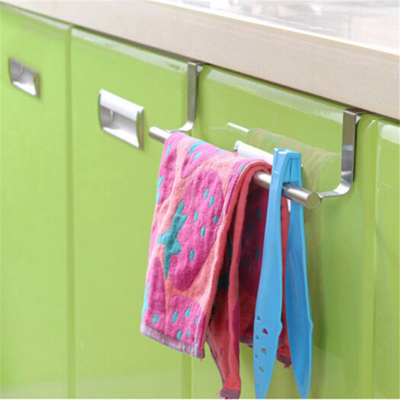 Hold Towels Cleaning Rags Hangers Towel Rack Hanging Holder Organizer Multifunction Bathroom Kitchen Cabinet Cupboard Hanger