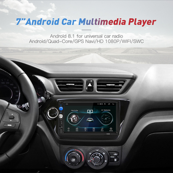 2 Din Car Radio Android 8.0  Universal GPS Navigation Bluetooth Touchscreen Wifi Car Audio Stereo FM USB Car Multimedia MP5 1
