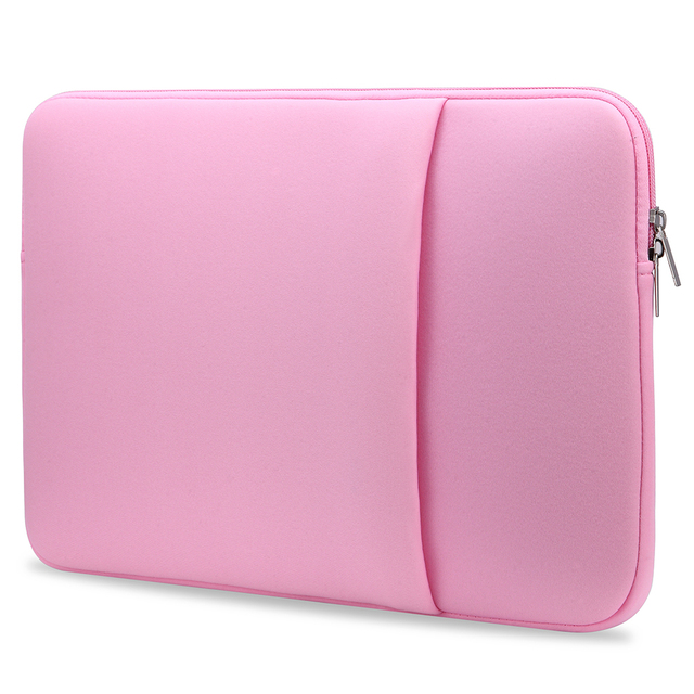 B2015 Laptop Sleeve Soft Zipper Pouch 11 12 13 14 15 15.6 inch Bag Case Cover for MacBook Air Pro Ultrabook Notebook Tablet