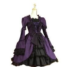 Customer-made Lila Sweet Lolita Dress Short-Sleeves Knee skirt  Dress V-919
