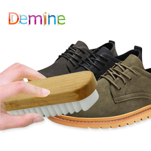 Demine Suede Shoe Brush Clean Scrubber Crepe Rubber Eraser Wood Base for Cleaning Polishing Boot Shoes Bags Shoes Care Brushes