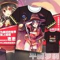 Новый коно Subarashii Sekai прошитой-ni Shukufuku wo Megumin футболка аниме истинный цвет мужчины tshirt модальных студент с коротким рукавом майки топы