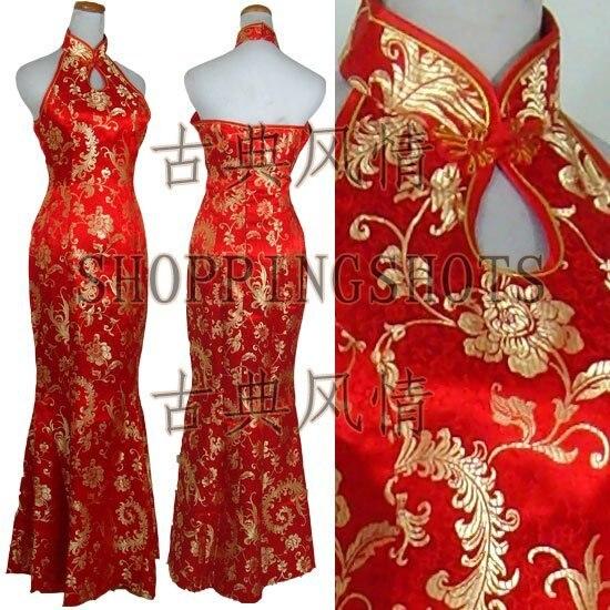 chinese gown dress qipao cheongsam wedding 100203 red offer custom made service