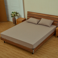 hotel waterproof mattress protector cover cotton coffee color stripe printing drom bed sheet