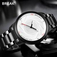 BREAK Brand New Original Unique Design Photographer Series Men Women Unisex Simple Quartz Sport Creative Fashion Casual Watches