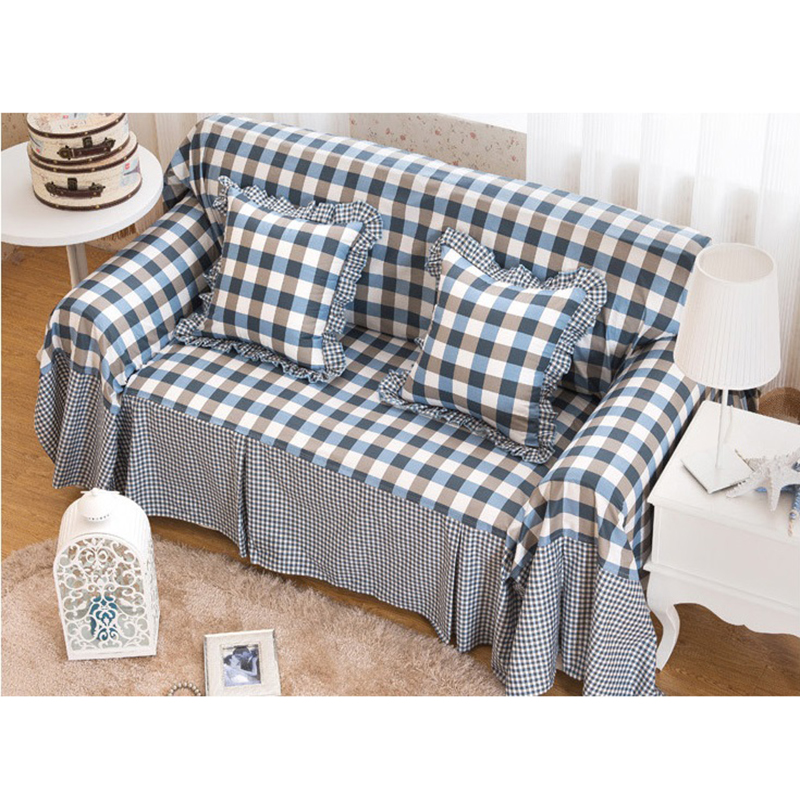 Cotton Sofa Towel Single Two Three Four Seater Covers Slip Resistant Plaid Couch Cover For Living Room Bed Home Decor