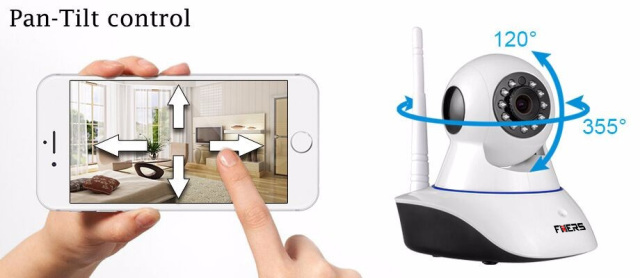 720P Wireless WIFI Control HD Pan/Tilt Networok IP Camera App Control Motion Detector Door/window Sensors Security Alarm system