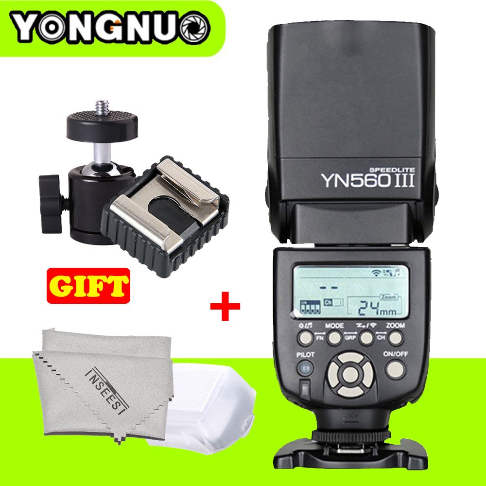 Universal Wireless Speedlite YONGNUO YN560III YN-560III Flash Speedlight YN 560 III for Canon Nikon Sony Pentax DSLR Cameras genuine meike mk950 flash speedlite speedlight w 2 0 lcd display for canon dslr 4xaa