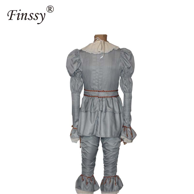 Halloween Costumes Scary Men.Us 29 75 7 Off Movie Stephen King S It Pennywise Cosplay Costume For Men Halloween Costume Scary Joker Suit Fancy Masquerade Party Prop In Boys