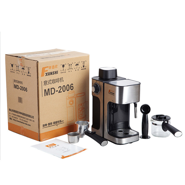 0.24L 5 Cups Electric Coffee Maker / Milk Foam Maker Office Espresso Italian Style Automatic Insulation Electric Coffee Machine 6