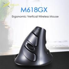 Delux M618 GX ארגונומי אנכי עכבר אלחוטי 6 לחצנים 1600DPI אופטי עכברים עם עבור מחשב נייד