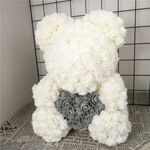 Valentines Gift 38cm Romantic Artificial Rose Teddy Bear for Wedding Girlfriend Anniversary Creative DIY Present