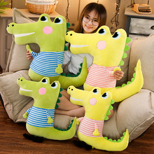 1pc 50/70cm Cartoon Crocodile Long Pillow Plush Toy Soft Stuffed Cushion Big Eyes Kawaii Lovely Gifts For Children Kids Presents