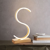 Led Table Lamp Modern Desk Lamp Black Book Reading Light Button Switch Bedroom Living Room Study Office Decoration Lighting
