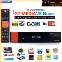 GT Media V8 Nova DVB-S2 Freesat Satellite Receiver H.265 built-in WIFI Support CCcam 7clines PowerVu  DRE &Biss key WEB TV,IPTV,