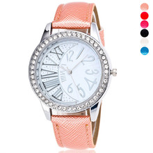 New Design Fashion Ladies Watches Elegant Rhinestone Female Quartz Wristwatches Women Leather Strap Montre Femme wholesale