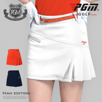 Pgm High Waist Golf Skirt Women Badminton Table Tennis Short Skirts Ladies Pleated Slim Golf Wear Anti Light Short Skirt AA60474
