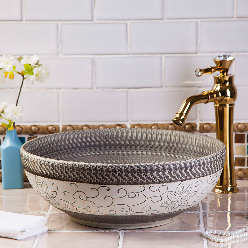 china artistic procelain handmade europe vintage lavabo washbasin ceramic bathroom sink art. Black Bedroom Furniture Sets. Home Design Ideas