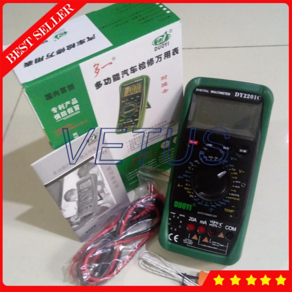 DY2201C AC voltmètre ampèremètre ampèremètre numérique multimètre automobile