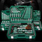 Outils de réparation de voiture outils de mécanicien ensemble 121PC 150 pièces clé à douille outils pour clé à cliquet automatique tournevis jeu de douilles clé hexagonale - 1