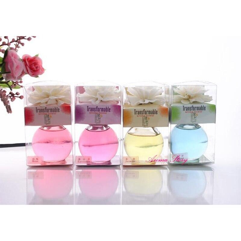 3 Teile/los 60 Ml Dry Flower Aromatherapie Diffusor Mit Farbigen Flüssigkeit Und Rould Glasflasche Wohnkultur Lavendel Etc Gute Begleiter FüR Kinder Sowie Erwachsene Ozean Lavendel