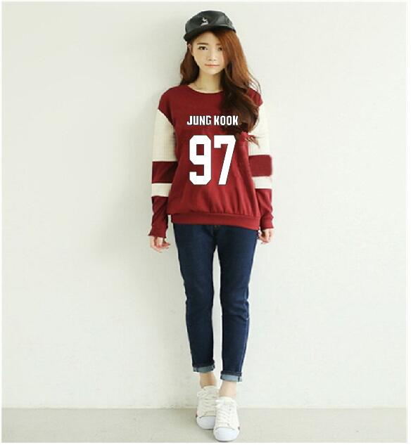 BTS Kpop Sweatshirt Women Korean Popual Bangtan Boys Autumn Winter BTS Women Hoodies Swe ...
