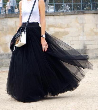 Long Skirts Womens Vintage High Waist Floor-Length Mesh Maxi Plus Size 6XL 7XL Skirts