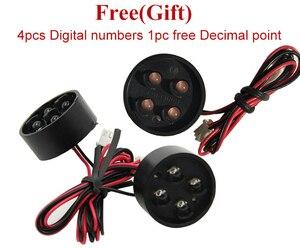 """Image 2 - 4 pçs/lote 15 """"cor vermelha ao ar livre 7 sete segmento led módulo de número digital para preço gás display led módulo"""
