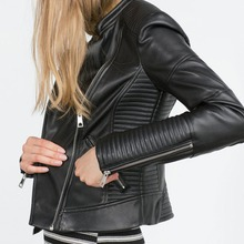 leather jacket women 2016 spring women leather clothing outerwear jackets and coats ladies black leather coat motorcycle leather