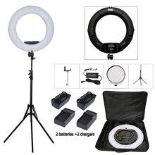 96W Yidoblo FD 480II Pro LED Beauty Salon nail Lighting Lamp Make up Ring lamp Lighting + stand (2M)+ bag + batteries