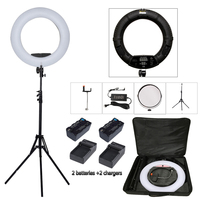 Yidoblo черный FD 480II Pro светодиодный Красота Salon nail освещения лампы составляют кольцо лампы освещения + подставка (2 м) + сумка + батареи
