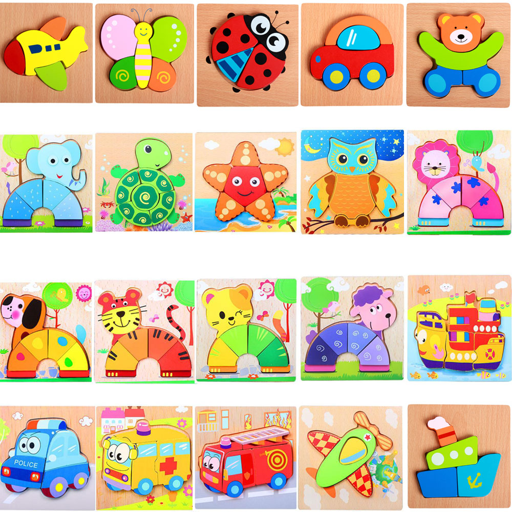 Cartoon Anime Wooden Toys Puzzle Jigsaw Learning Educational Fun Funny Gadgets Interesting Toys For Children Kids Gift