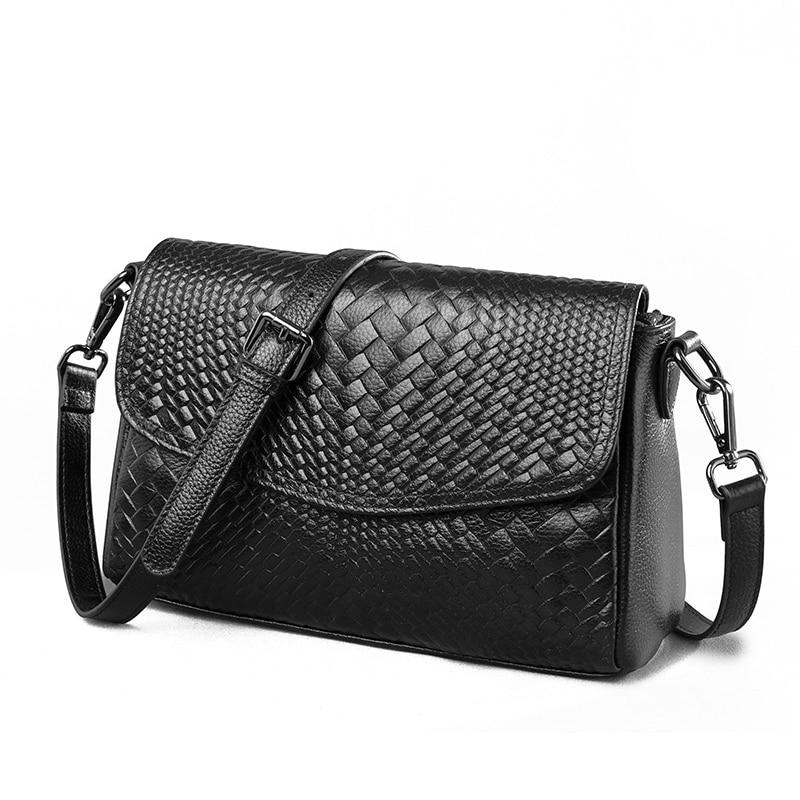 купить Genuine Leather Ladies Messenger Bags Female Fashion Shoulder Crossbody Bags For Women Luxury Handbag Tote Purse Sac A Main по цене 2515.91 рублей