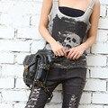 Carteras mujer женщины сумку Двигателя ног Outlaw Пакет Бедра Кобура Защищены Кошелек Плеча Рюкзак Кошелек бедра мешок Паровой панк сумка