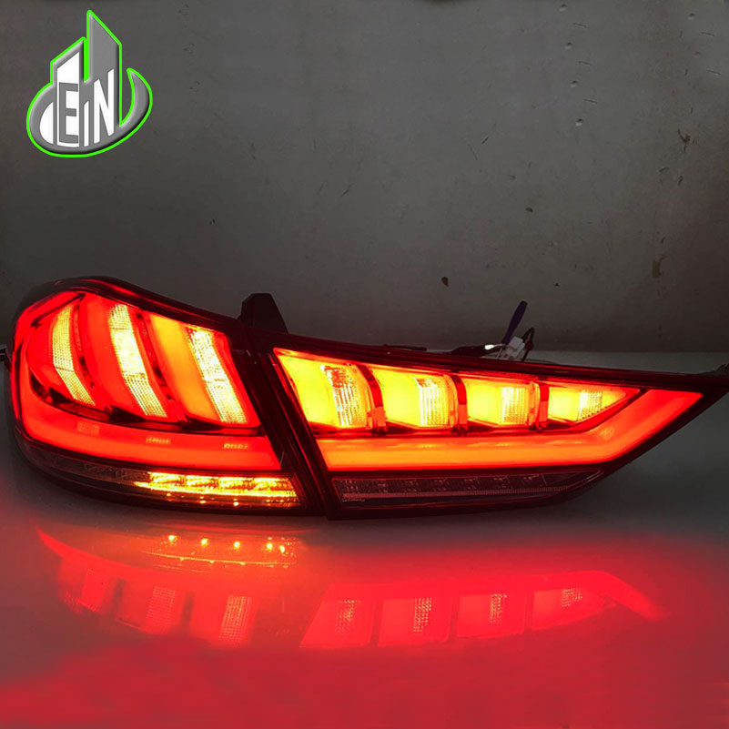 EN Car Styling 2017 2018 For Hyundai ELANTRA  TAIL Lights LED Tail Light Rear Lamp DRL+Brake+Reversing dynamic turn signal салфетки влажные для обивки салона hi gear hg5600n