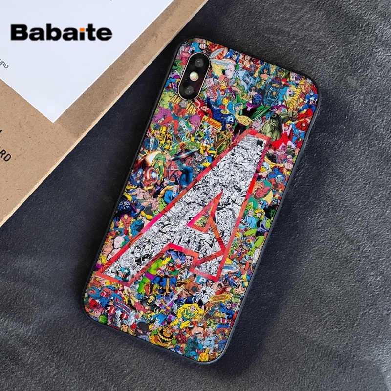 Babaite Marvel Avengers Captain America Batman Luxury Phone Case Cover for iPhone 5 5Sx 6 7 7plus 8 8Plus X XS MAX XR